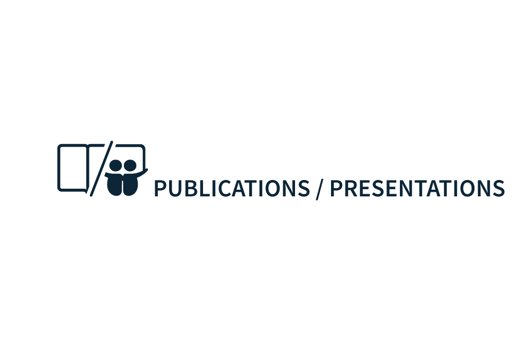 Publications section book and slideshare icon