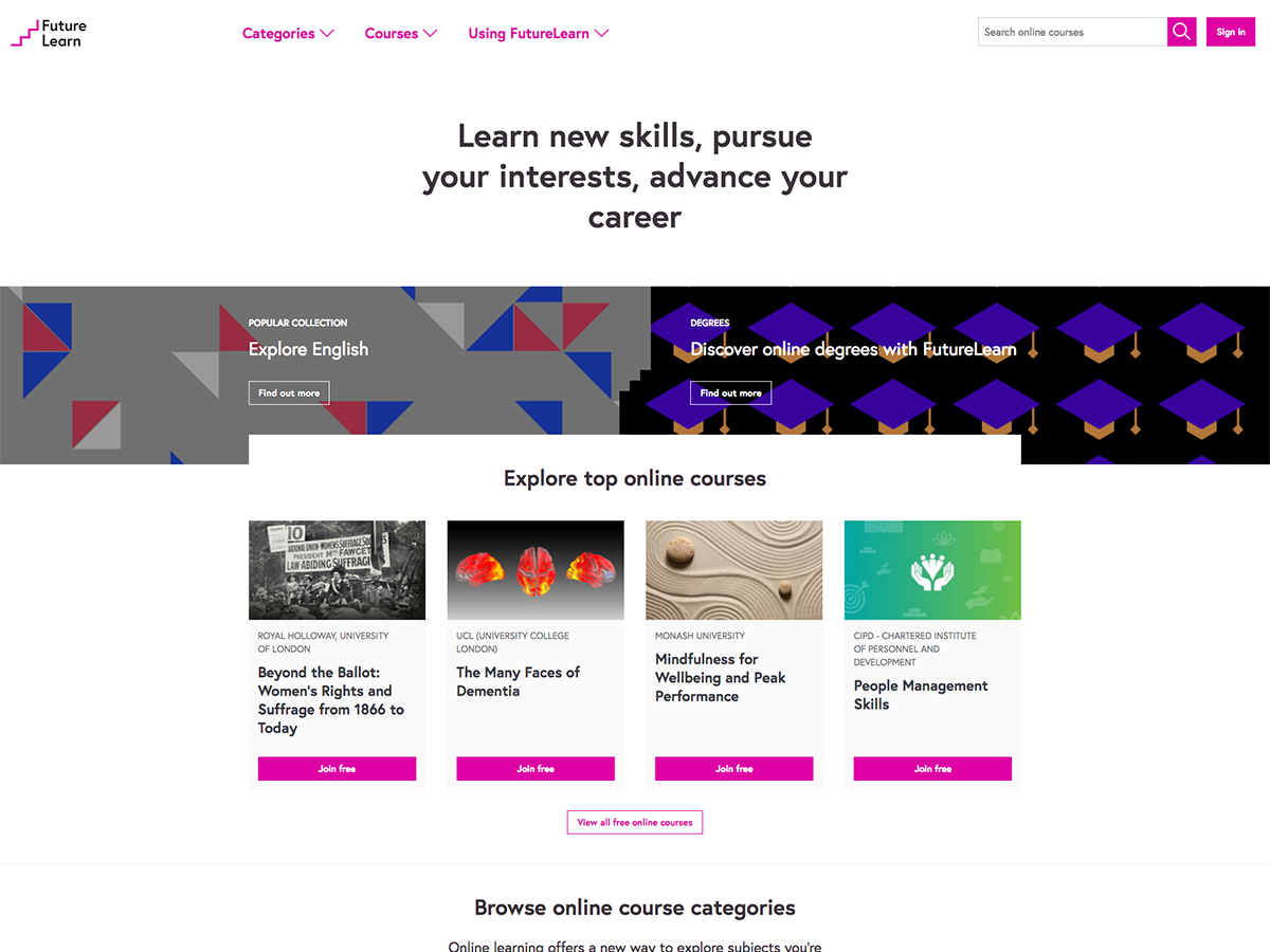 Future Learn Website